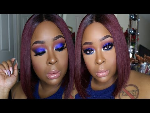 TUTORIAL! I'M FEELING BLUE! LET'S GET CUTE TOGETHER! HAIR AND MAKEUP!