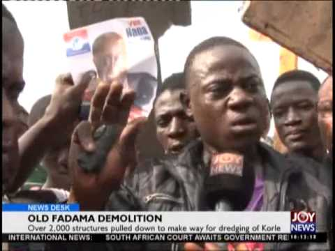 Old fadama demolition - News Desk on Joy News (22-6-15)