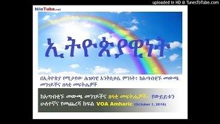 በኢትዮጵያ ከአጣብቂኙ መውጫ መንገዶችና ዘላቂ መፍትሔዎች:- የውይይቱን ሁለተኛና የመጨረሻ ክፍል - VOA Amharic (Part2)
