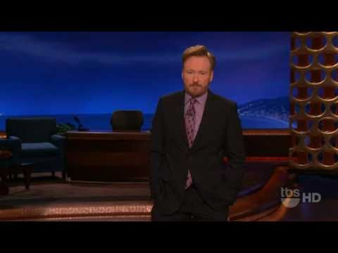 Conan O'brien tells the government of Egypt to turn the Internet back on