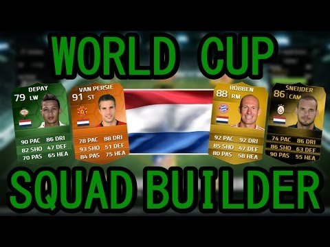 FIFA 14 ULTIMATE TEAM WORLD CUP SQUAD BUILDER - NETHERLANDS ft. MOTM VAN PERSIE & iMOTM DEPAY