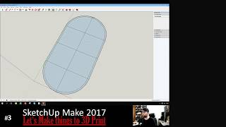 Echo Dot holder 090718 #3 - Let's design things to 3D Print with Google Sketchup make 2017