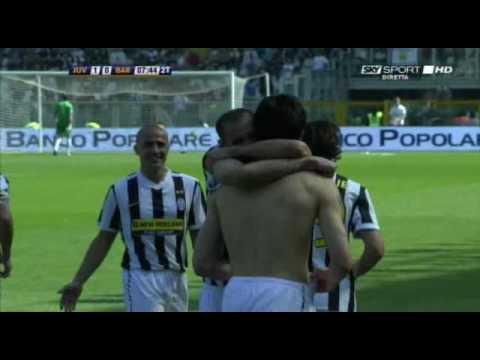 Juventus - Bari 25/04/2010 Il gol di Iaquinta