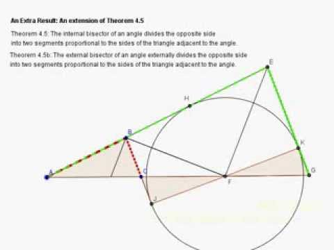 Extending Theorem 4.5 to Include External Bisectors