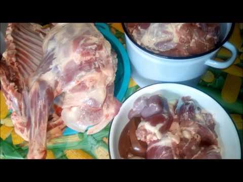 Выход мяса у барана.