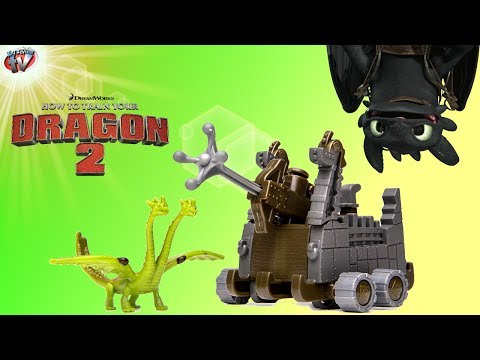 How To Train Your Dragon 2: Zippleback vs Zipplecatcher Toy Review. Spin Master