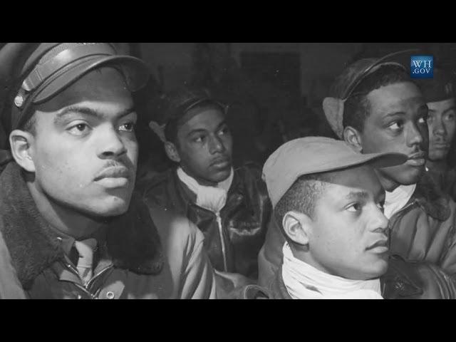 Tuskegee Airmen visit the White House