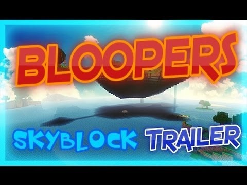Minecraft Skyblock Server 1.7.9 Trailer Bloopers