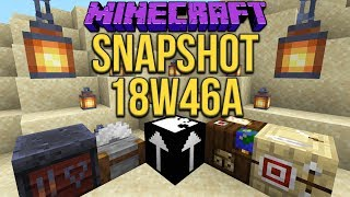 Minecraft 1.14 Snapshot 18w46a Mystery Jigsaw Block & Lanterns!