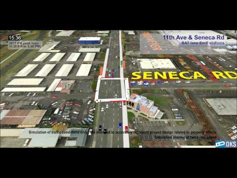 West Eugene EmX Peak Traffic Simulation (Short Version)