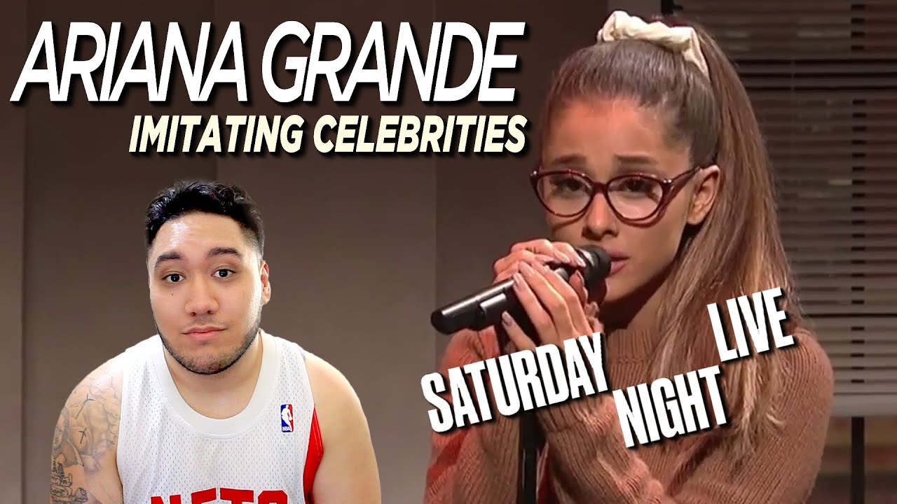 Ariana Grande Imitating Celebrities (Live on SNL) REACTION!!!