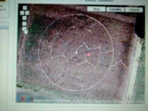 google circles homepage. crop circle in Edenton,