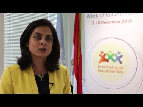 International Volunteer Day 2014, Message from Ms. Anita Nirody, UN Resident Coordinator in Egypt