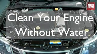 How to wash your engine safely without water