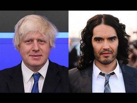 Russell Brand and Boris Johnson appear on Question Time June 2013