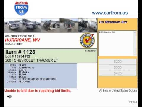 Purchase Salvage Cars at Hurricane Auto Auction