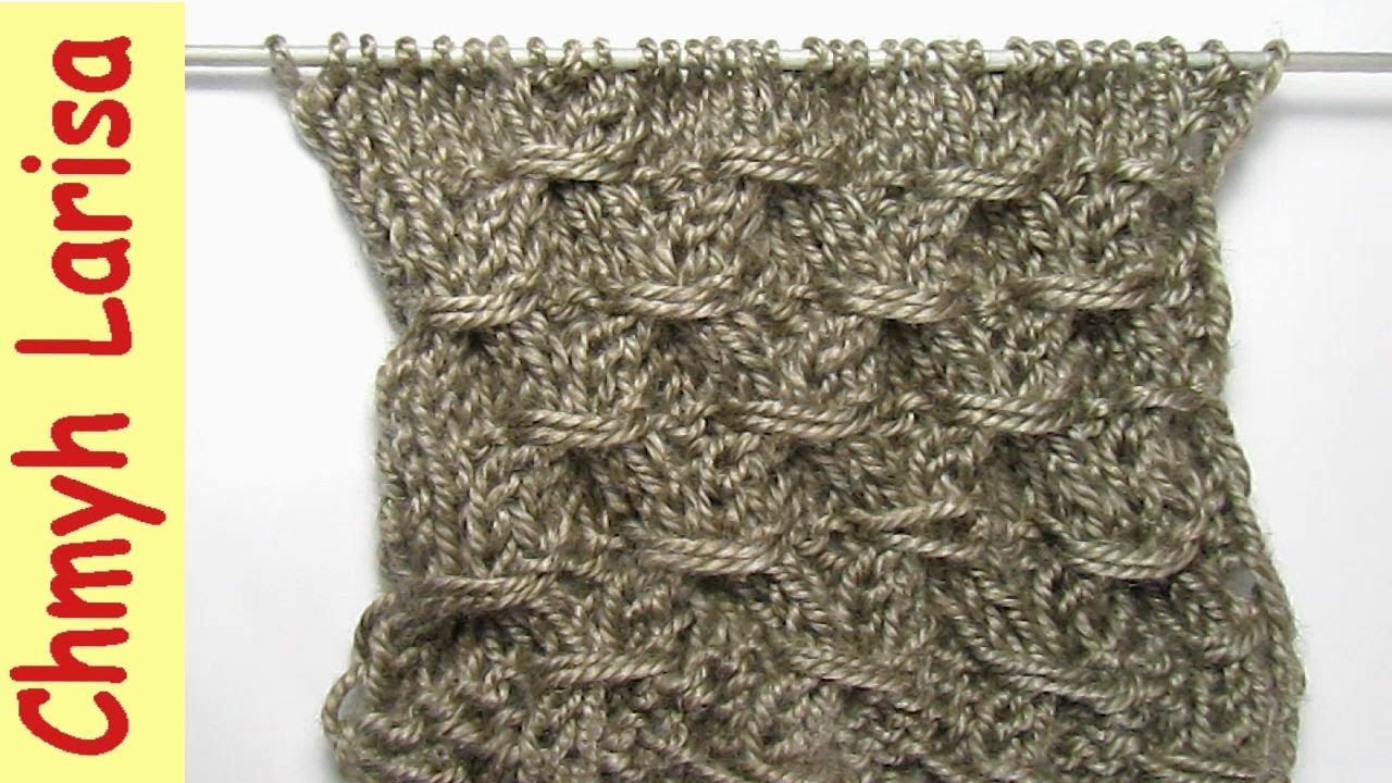Вязание спицами обвитые петли 79