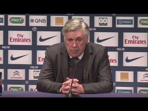 Carlo Ancelotti on Zlatan Ibrahimovic, David Beckham, Nancy, Ligue 1 title race AND Maradona