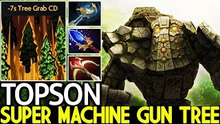 TOPSON [Tiny] Super Machine Gun Unreal Damage Pro Plays 7.22 Dota 2