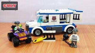 Lắp ráp LEGO Xe cảnh sát bắt cướp vượt ngục Brick Police Car catch robbers escape Toy for kids