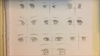 How to Draw Anime Girl Eyes [10 Ways] [No Timelapse]