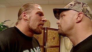 "Triple H denies running over ""Stone Cold"" Steve Austin: Raw, Sept. 25, 2000"