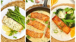 3 Healthy Salmon Recipes | 20 Minute Dinner Ideas