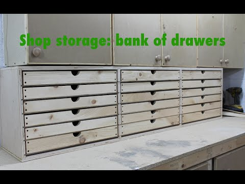 Bank of drawers for the shop!