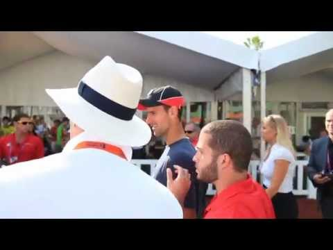 Novak Djokovic Victory Lap At Sony Ericsson Open In Miami