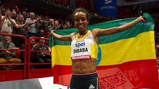 Genzebe Dibaba set world record in Women's 1500m Monaco IAAF Diamond League, MON 2015