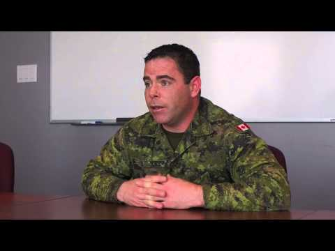 A Canadian solider talks about his tour of duty