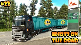 ★ IDIOTS on the road #23 - ETS2MP | Funny moments - Euro Truck Simulator 2 Multiplayer