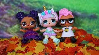 LOL SURPRISE DOLLS Play In Autumn Leaves!