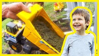 Toy Dump Truck Pours Cement