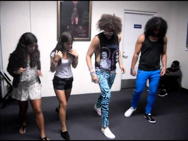 LMFAO teach Sofi and Ana how to Shuffle