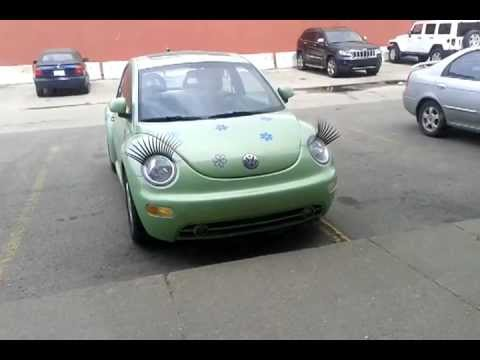 Crazy Volkswagen VW Beetle with Eyelash - Punch Buggy フォルクスワーゲン ビートル - YouTube