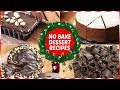 Christmas Special Recipes - Easy No-Bake Desserts - Eggless Chocolate Dessert Recipes