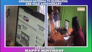 APP launch 3rd year anniversary AKRAMAN national tv celebrating IN BANGALORE OFFICE