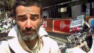 20 gennaio   Lorenzo Napodano a fine Dakar2013