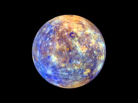 Spinning Mercury Map From Orbiter Snaps | Video