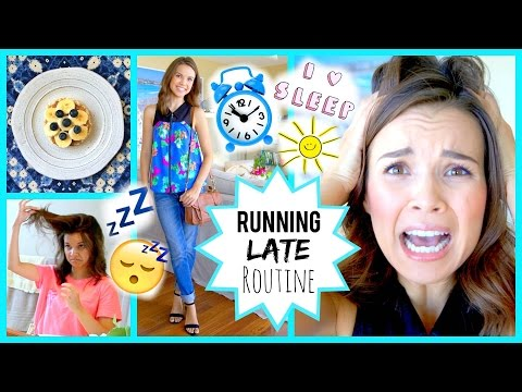 I Woke Up Late!! Quick Makeup, Hair, Outfit + Breakfast