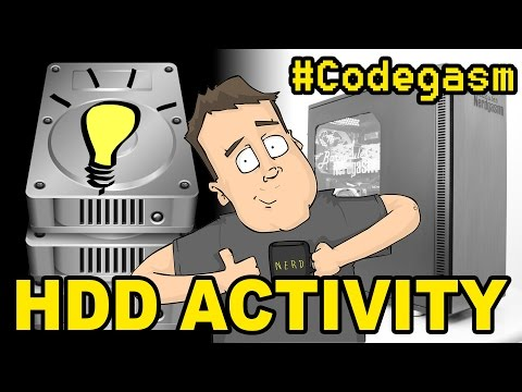 Creating HDD Activity LED in Windows System Tray : #Codegasm 6