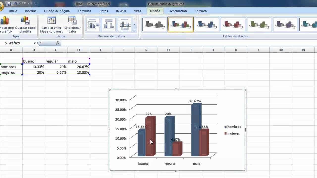 Barras de Excel 2013 Gráfico de Barras Excel 2007