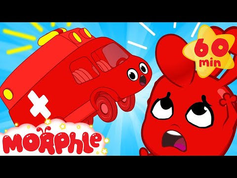 Auch that hurts! Morphle bumps his head and turns into a Ambulance! Vehicle videos for Kids!