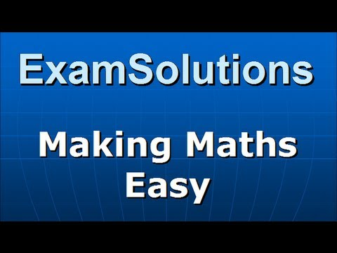 Exponential Equation : C3 Edexcel January 2013 Q8 : ExamSolutions Maths Revision