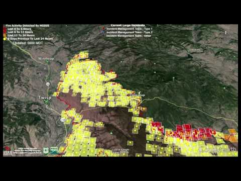 Fly Through of Carlton Complex Fire Data Updated 7-20-2014