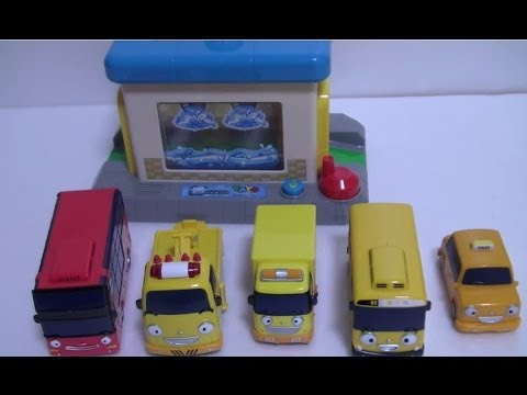 타요 - 타요 친구들 세차장 놀이 꼬마버스 타요 Мультфильмы про машинки Игрушки Little Bus Tayo Toys