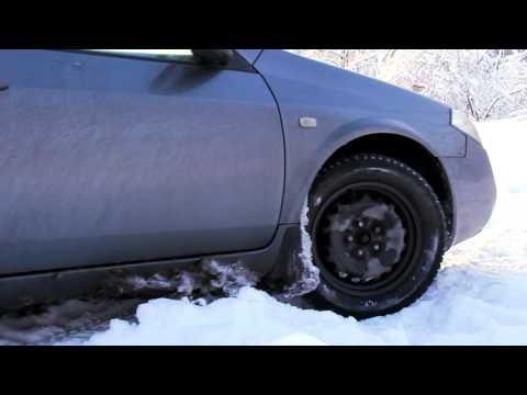 Nissan Primera p12 | Slowmo | Offroad snow | Не большое снежное бездорожье