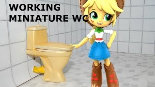 how to make working diy miniature golden toilet for equestria mini doll house 3d printed HD