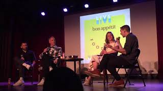 Live Bon Appetit Podcast event  11/2018 with BA Editor in Chief and Senior Food Editors